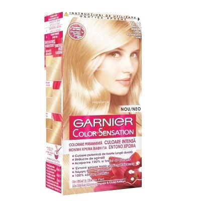 رنگ موی گارنیه کالر سنسیشن، بلوند بژ 9.13