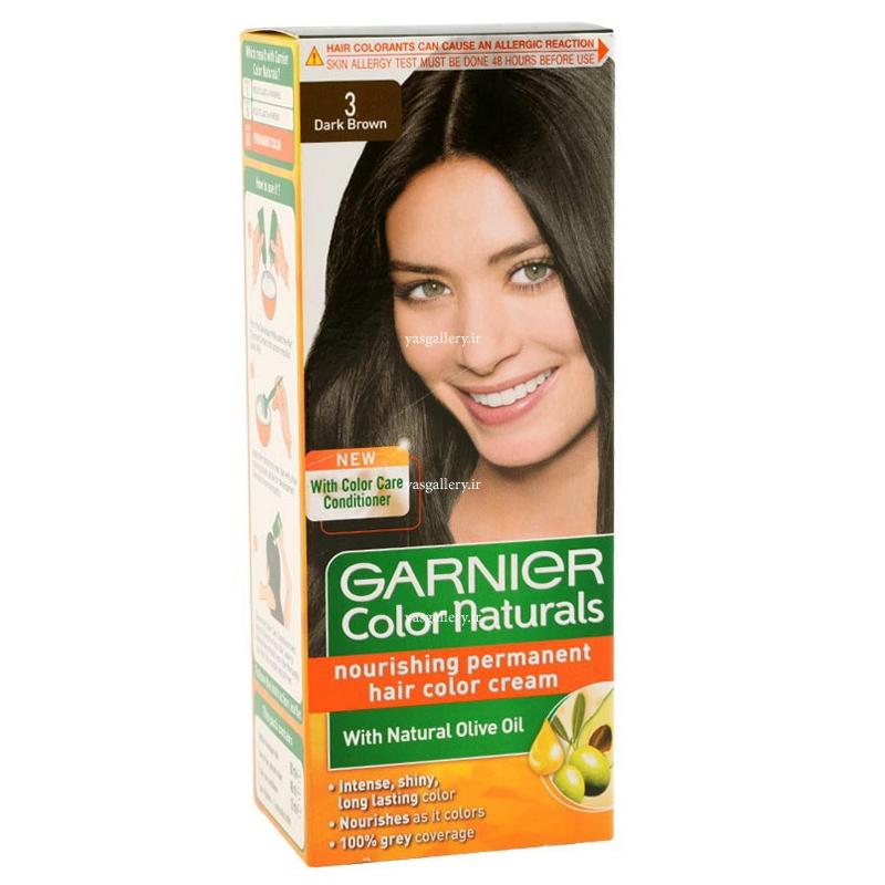 رنگ موی گارنیه کالر نچرالز، قهوه ای تیره 3