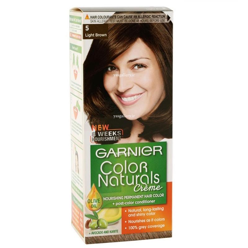 رنگ موی گارنیه کالر نچرالز، قهوه ای روشن 5
